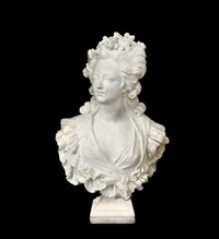 bust of marie antoinette by orazio andreoni