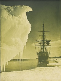 terra nova at the ice foot, cape evans by herbert george ponting