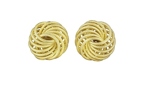 spirali earclips pair by buccellati