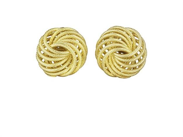 spirali earclips pair by buccellati
