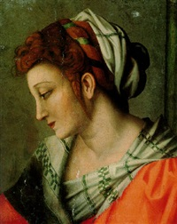 head of a woman by bacchiacca