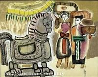 trojan horse (+ nude among fish and lotus; 2 works) by bui ngoc tu
