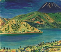 lake view (ashinoko) by zenzaburo kojima