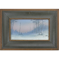 a winter day vellum plaque by lenore asbury