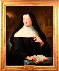 portrait de louise adélaïde d'orléans, fille du régent by pierre gobert