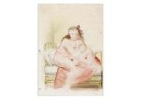 femme au lit by fernando botero