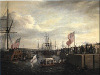 opening of ringsend docks, 23rd apr, 1796... by william ashford