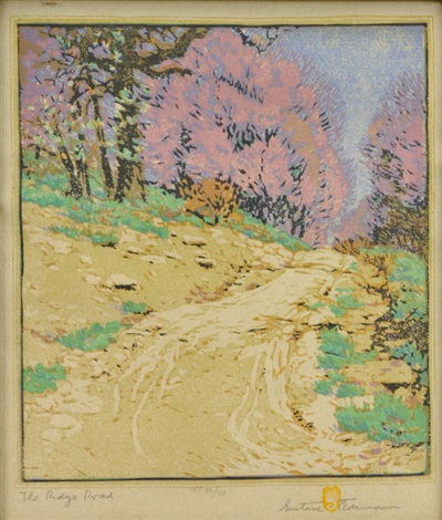 the ridge road by gustave baumann