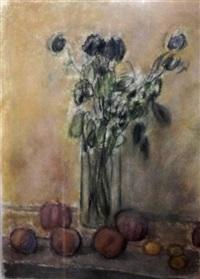 still life and vase by jan rauchwerger