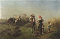 la pause pendant la fenaison by friedrich wilhelm pfeiffer