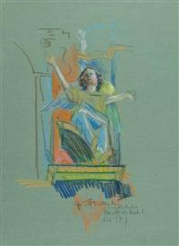 engel (study) (+ madonna; 2 works) by josef fischnaller