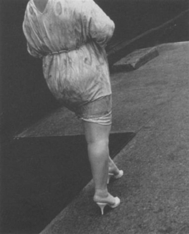 woman in high heels by leon levinstein