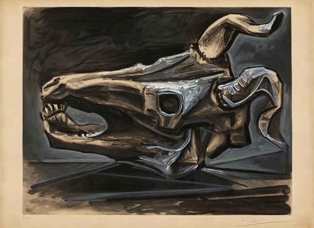 Extrêmement Crane de chevre sur la table by Pablo Picasso on artnet QZ09