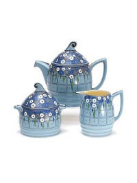 iris teaset (3 pieces) by john william wadsworth