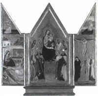 the madonna and child with saints triptych by andrea da firenze (di bonaiuto)