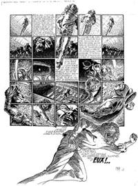 métropolitain opéra, planche 4 (for album scènes de la vie de banlieue) by caza