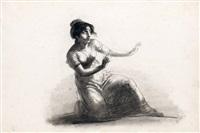 jeune femme apeurée by étienne charles leguay