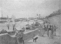 promenade on the seine by f. vogler