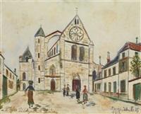 église saint aignan à chartres (eure-et-loir) by maurice utrillo