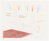 on it may stay his eye (blue guitar suite) by david hockney