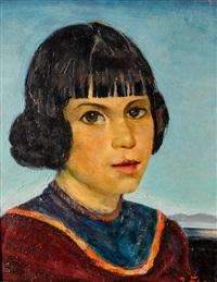 portrait of spanish girl by joseph amadeus fleck