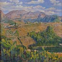 vistas del valle de la montañeta, alceria, valencia by martinez ribes