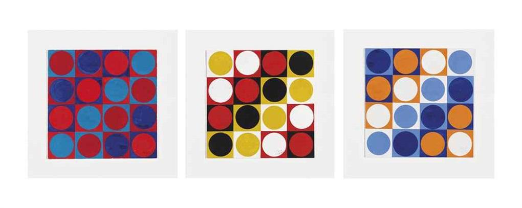untitled no 945 untitled no 946 and untitled no 947 2 works by antonio asis