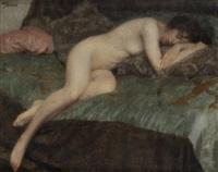 femme nue endormie by maurice joron