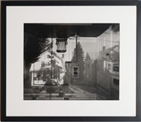 camera obscura image of houses across the street in our living room by abelardo morell