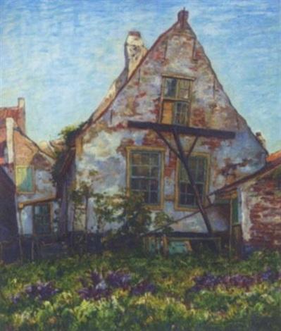 het gestutte oude huis the old house by hendrik van bloem