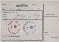 telegramm deutsche post by joseph beuys