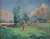paysage près du tholonet à aix-en-provence by guillaume dulac
