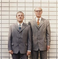 gilbert & george in front of the national gallery beijing by dana lixenberg