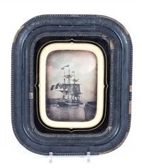 navire quittant le port du havre (1/2 pl.) by cyrus macaire