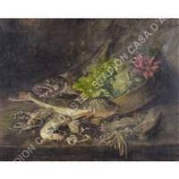 natura morta con pesci by antonio lonza
