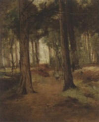 a young child in a wood by thomas bunting