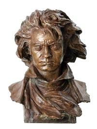 bust of beethoven by leopold bernhard bernstamm