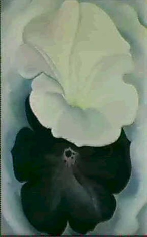 Black petunia and white morning glory ii by georgia okeeffe on artnet black petunia and white morning glory ii by georgia okeeffe mightylinksfo