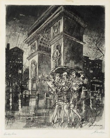 easter eve washington square by john french sloan