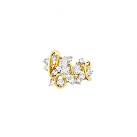 Gold Platinum And Diamond Love Ring By Bailey Banks Biddle By Bailey Banks And Biddle On Artnet