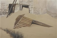 sandblasted wall, kolmanskop by keith alexander