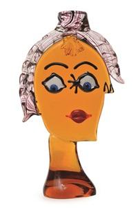 picasso head by ferro murano