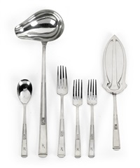 besteckteile (set of 6) by joseph maria olbrich