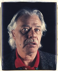 john (john chamberlain) by chuck close