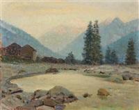 kleiner see in den alpen by oreste albertini