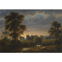 view of raby castle, county durham by joseph miller