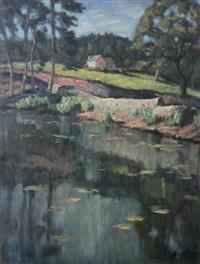 paysage à la rivière by paul scortesco
