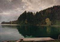 stille bucht am wolfgangsee (fürberg) by adolf helmberger