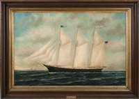 portrait of the ship fannie kimmey (two) by william pierce stubbs
