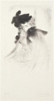 portrait de femme by antonio de la gandara